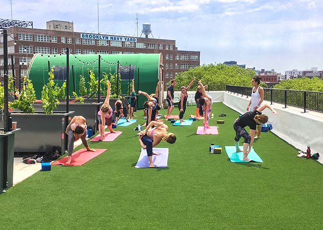 SynLawn Artificial Turf Commercial Rooftop Yoga