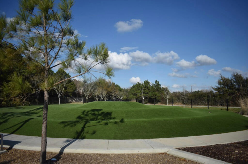 park with artificial turf